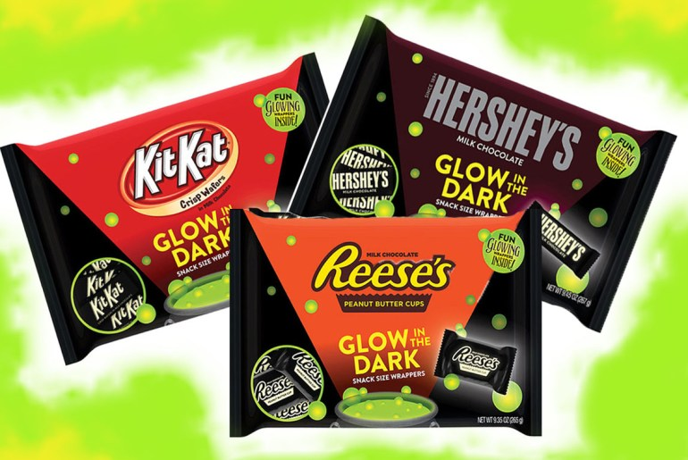 Kit Kats, Reese's, Hershey's get glow in the dark makeover for Halloween 2018