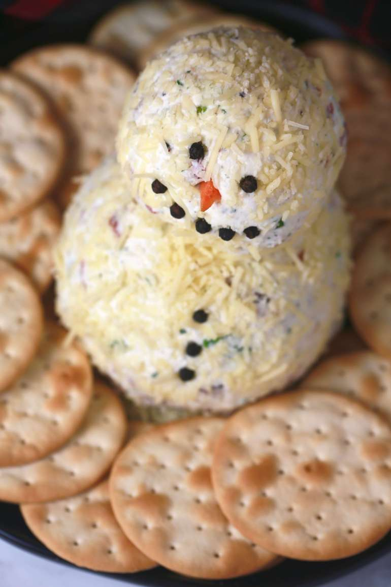 Loaded ranch snowman cheeseball_1