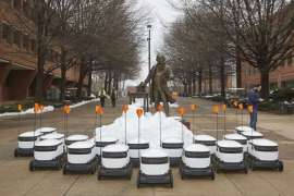 Robots are now delivering food to George Mason University students