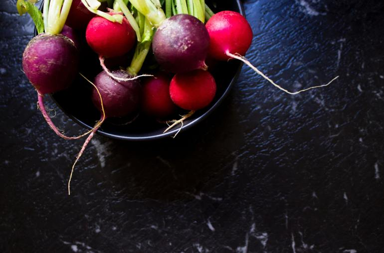 Save money and buy produce in season in March - radishes