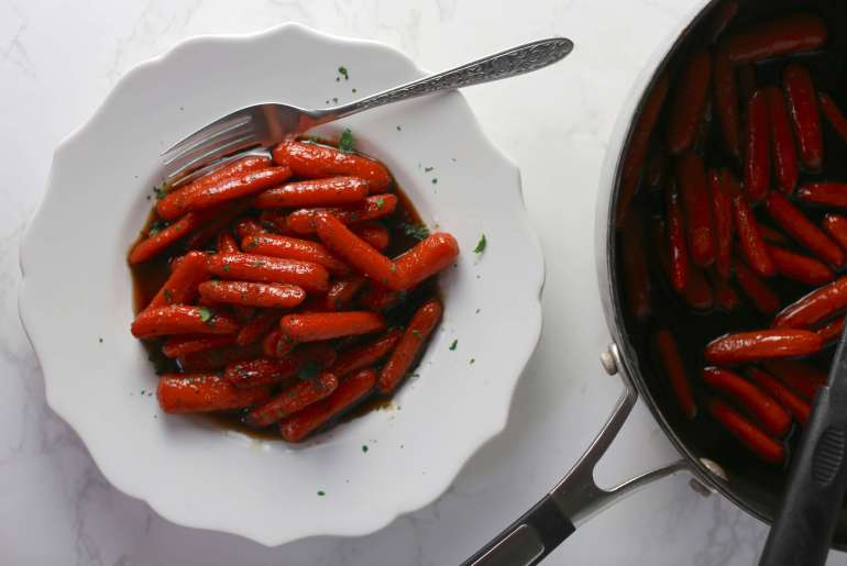 Sweet and spicy glazed bourbon carrots_4
