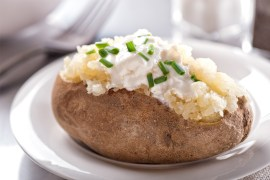 The best way to reheat a baked potato