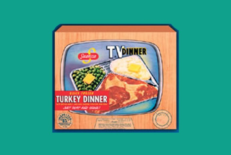 The first TV dinner was a Thanksgiving feast