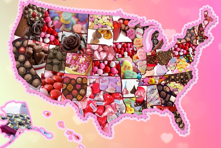 The most popular Valentine's Day candy in each state