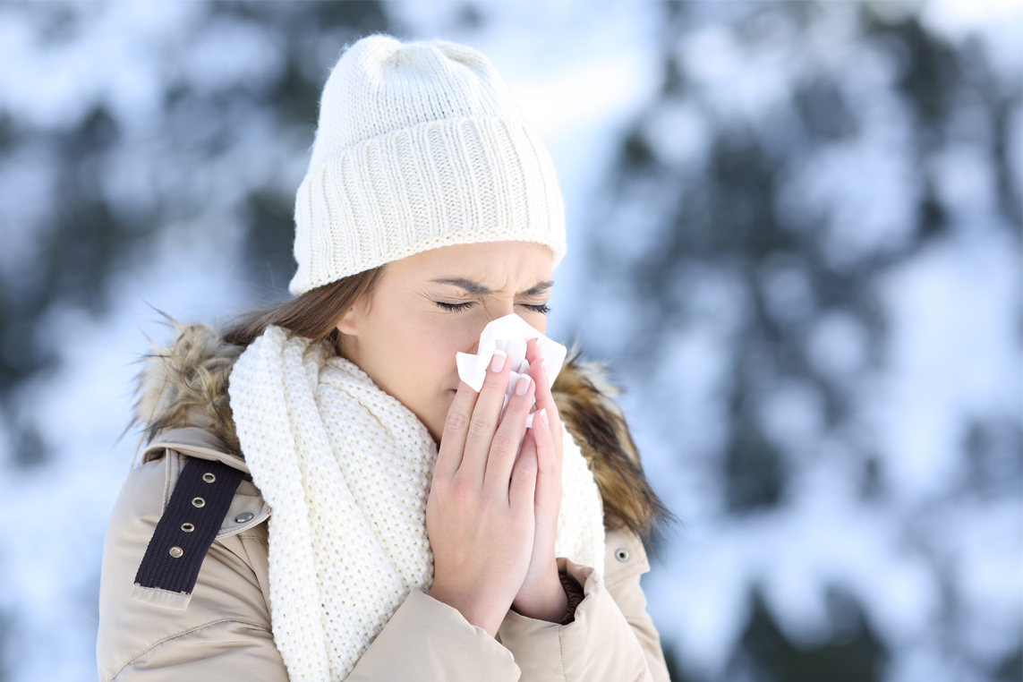 Why nose runs when cold outside