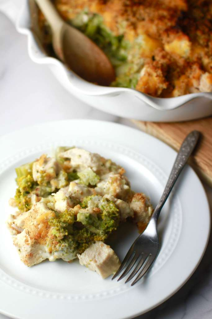 Weeknight broccoli chicken divan casserole