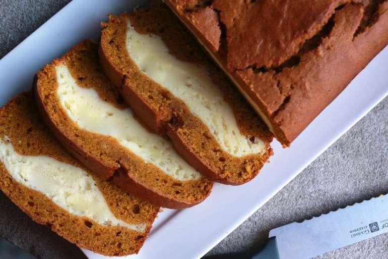 cheesecake pumpkin bread