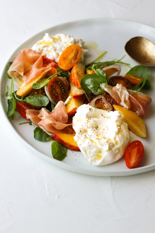 Burrata Salad with Prosciutto and Nectarines