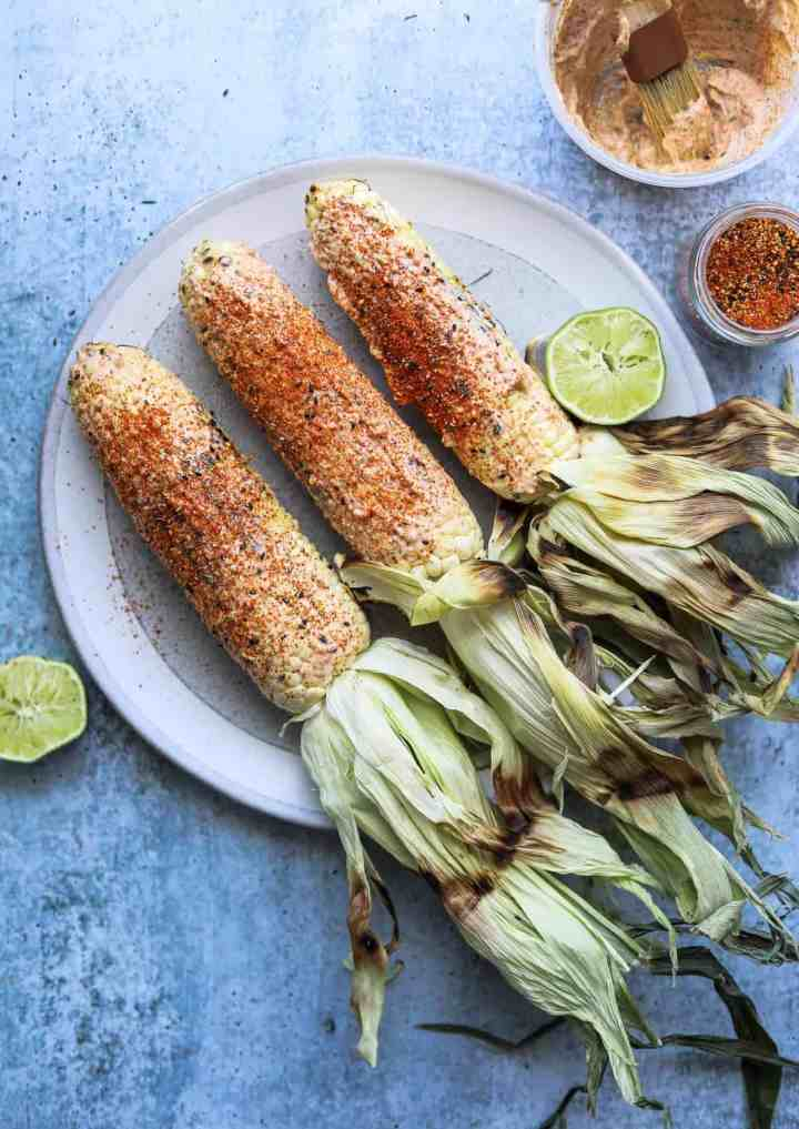 Grilled Corn with Togarashi-Lime Mayo