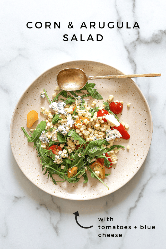 Corn and Arugula Salad with Blue Cheese