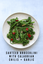 Broccolini with Calabrian Chilis and Garlic