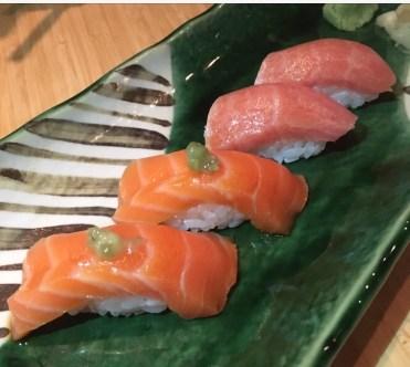 NIGIRI | salmon belly & fatty tuna