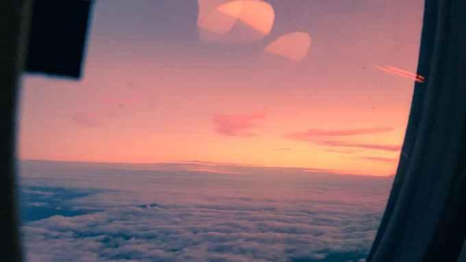scenic photo of pink sky