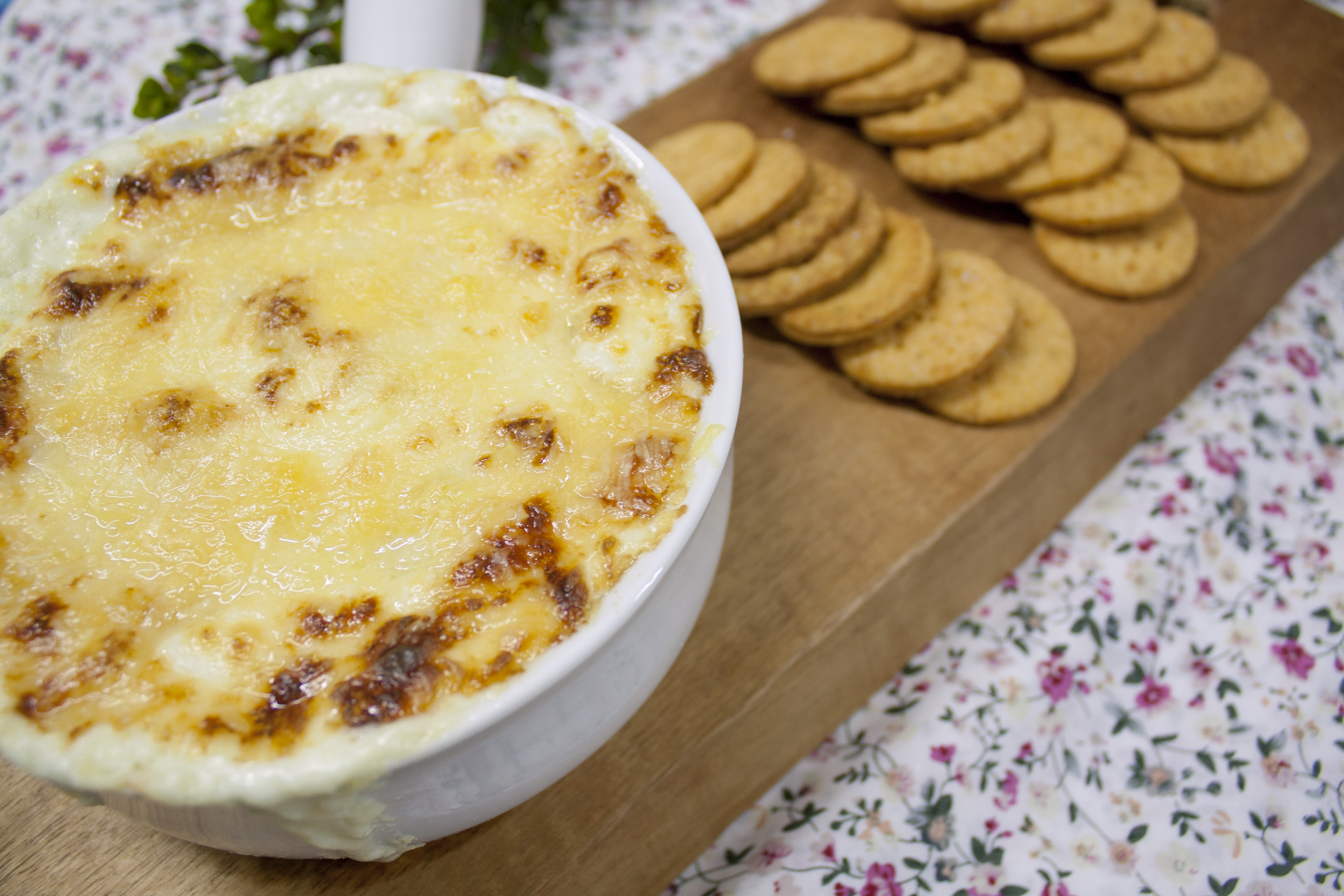 Artichoke and cheese hot dip