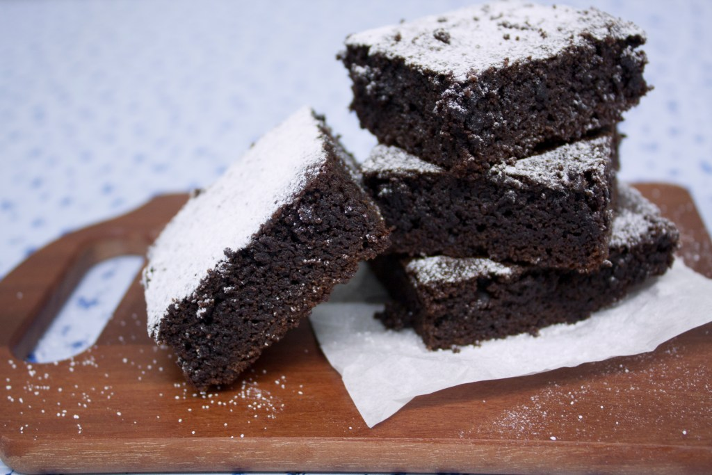 Fudgy and chocolate-y brownies