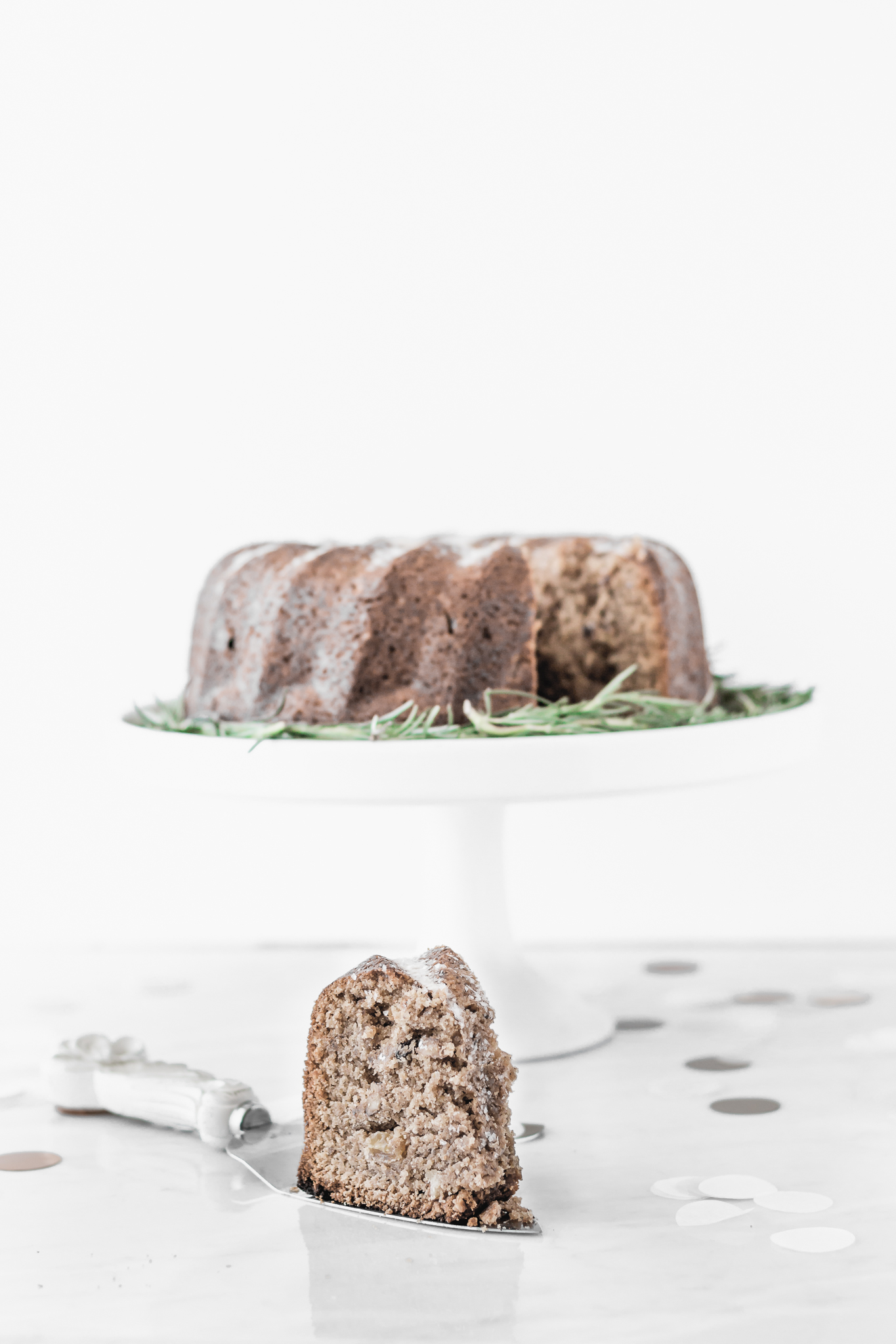 Christmas Bundt Cake with Walnuts and Raisins