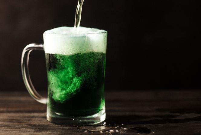 green beer-food color-st. patricks day