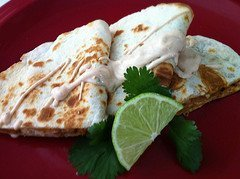 Chicken Quesadillas With Mango Chipotle