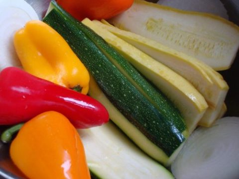 zucchini, peppers and summer squash