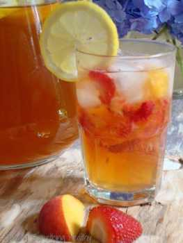 Iced Sun Tea With Fruit Craving Something Healthy