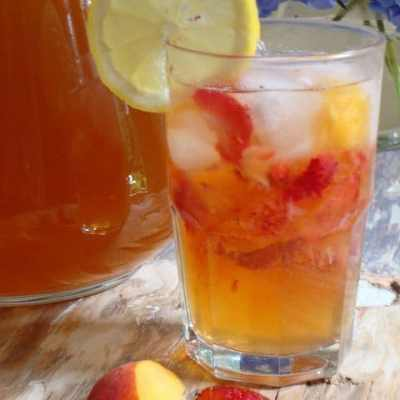 Fruited Iced Sun Tea and A New American Plate Challenge Update