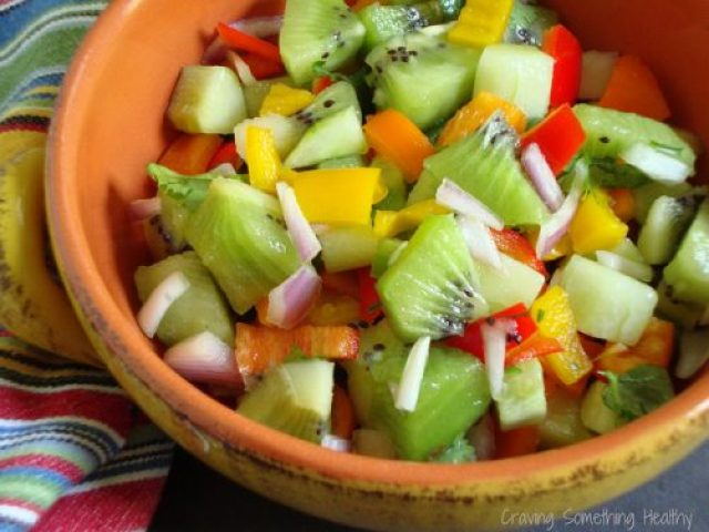 3 Step Fruit Salsa|Craving Something Healthy
