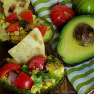 Grilled Stuffed Avocado Salads
