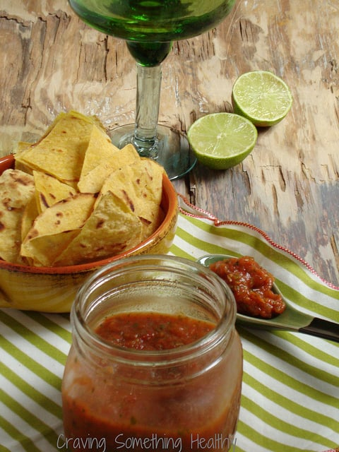 Roasted Tomato Salsa Craving Something Healthy