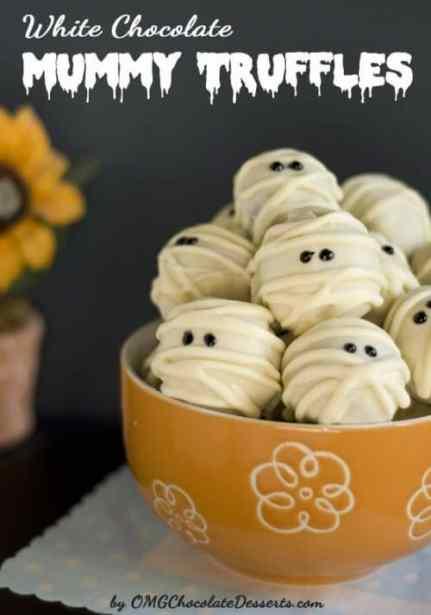 White Chocolate Mummy Truffles|OMG Chocolate Desserts