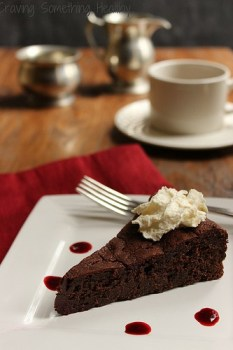 Flourless Chocolate Cake with Raspberry Sauce|Craving Something Healthy