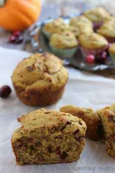 Pumpkin Cranberry Muffins|Craving Something Healthy
