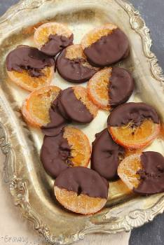 Dark Chocolate Covered Spiced Orange Slices|Craving Something Healthy