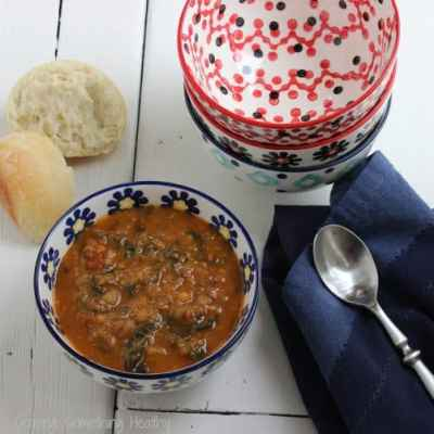 Lentil, Spicy Sausage and Spinach Soup {A Recipe ReDux}