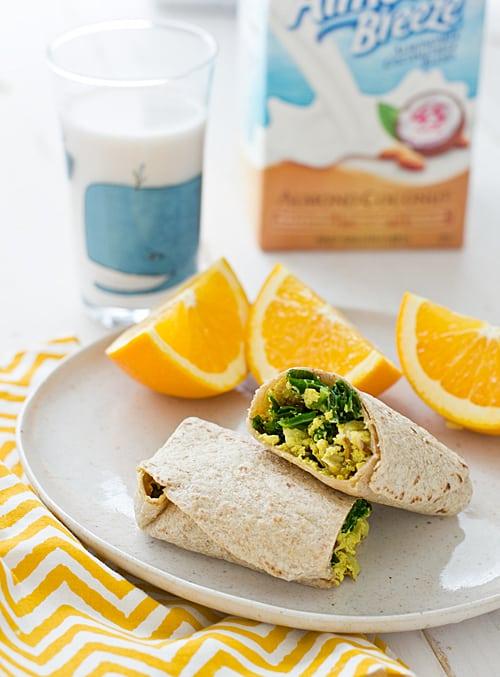 Freezer Friendly Greens and Tofu Scramble Wraps|Oh My Veggies