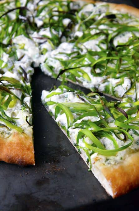 Asparagus and Ricotta Pizza|Just A Taste