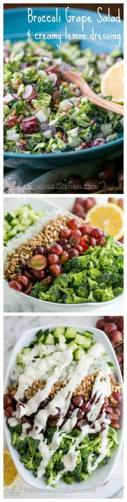 Broccoli Grape Cucumber Salad|Natasha's Kitchen
