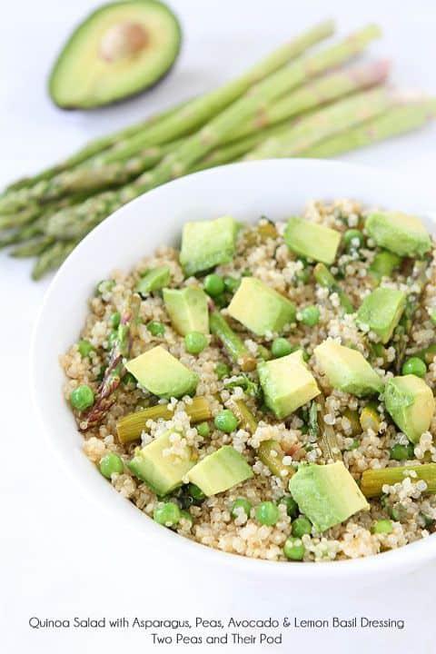 Quinoa Salad With Asparagus Peas and Avocado|Two Peas and Their Pod