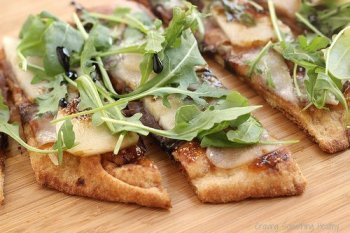 Pear Prosciutto Arugula Pizza|Craving Something Healthy