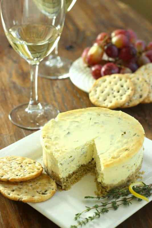 Gluten Free Lemon Herb Savory Cheesecake|Craving Something Healthy