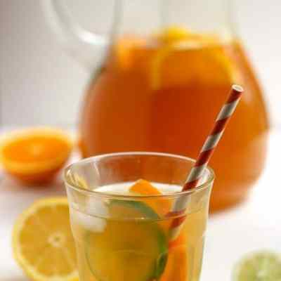 Citrus Spiked Chai Sun Tea {Recipe ReDux}