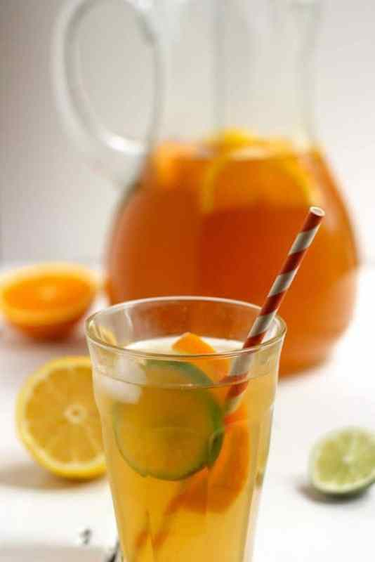 Citrus Spiked Chai Sun Tea|Craving Something Healthy