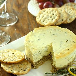 Gluten-Free Lemon Herb Savory Cheesecake