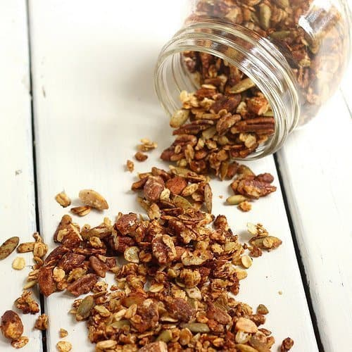 Savory Parmesan Granola|Craving Something Healthy