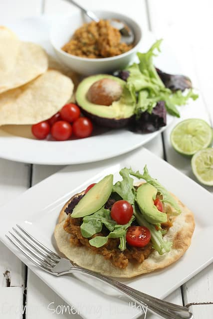 Chipotle Lentil Tostadas|Craving Something Healthy