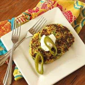 Zucchini Fritters with Corn and Hatch Chiles|Craving Something Healthy