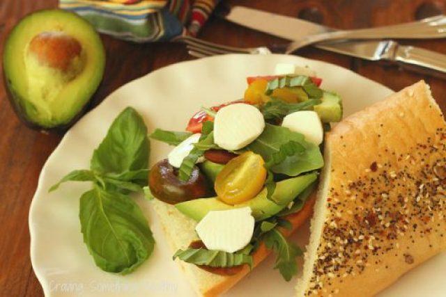 Avocado Caprese Sandwich Craving Something Healthy