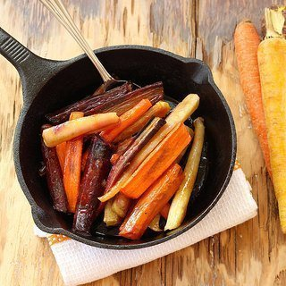 Honey Coriander Glazed Rainbow Carrots