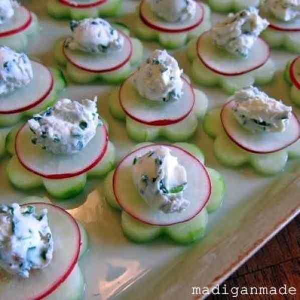 Herbed Cucumber Flowers|Madigan Made
