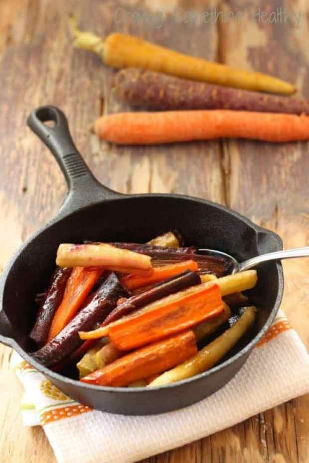 Honey Coriander Glazed Rainbow Carrots|Craving Something Healthy