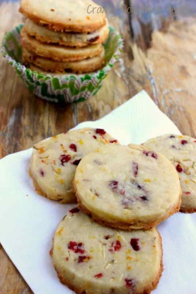 Cranberry Orange Almond Shortbread COokies Craving Something Health